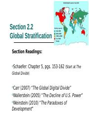 2.2 Global Stratification