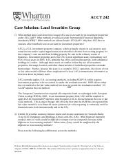Land Securities Case Solution