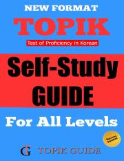 TOPIK Self Study Guide - For All TOPIK Levels.pdf