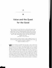 Value and the Quest for the Good