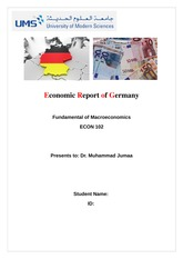 Economic Profile of Germany