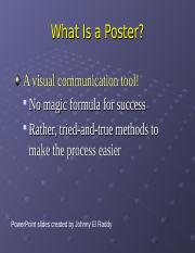 SSU Poster Madness 2005.ppt