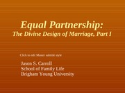 5. Equal Partnership - The Divine Design of Marriage