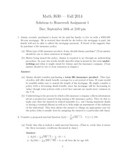 Math 3630 Assignment 1 and Solutions