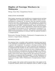Rights of Foreign Workers in Malaysia LAW.docx