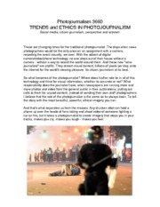 Class 11 - Trends and Ethics in Photojournalism
