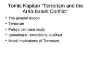 12.3.2007 Kapitan Terrorism in the Arab-Israeli Conflict