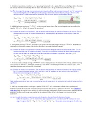 Practice problems on Momentum and Torque Equilibrium