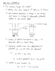 PHYS 541 Conductor Notes