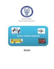 Problems_Vehicle_Theory