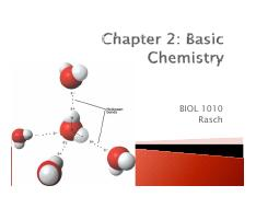 BIOL 1010 Chapter 02 Basic Chemistry students