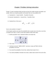 STAT 2200 - Chapter 7 - Problem Solving Step by Step Instructions.docx