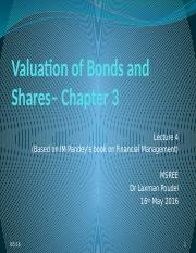 4 EFE_MSREE_lec 4_bond & share valuation_2016