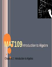 MAT109 Introduction to Algebra Live Chat 4.ppt
