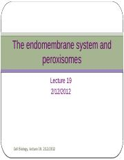 Lecture 19- The endomembrane system.pptx