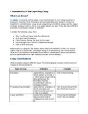 Expository essay characteristics