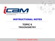 TOPIC 6 TRIGONOMETRY