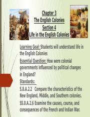 Chapter3Section4LifeInTheEnglishColonies.pptx