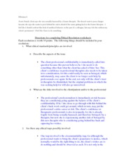 Ethical Standards Practice Worksheet #4