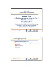 CEE 422-SP15-07-Material Cost & Estimating Concrete Work(1) (1)