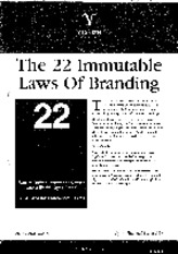 22 Laws of Branding