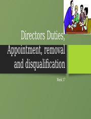 Directors Duties, Appointment , disqualification and removal-2