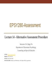 Lecture 14__Alternative Assessment Procedure_11.2.2017-Student.pptx