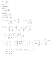 Linear Algebra Chp 1 Test 201330 Solutions