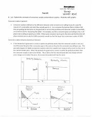 Consumer Surplus and Producer Surplus Test