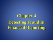 Forensic Accounting Chapter 4