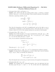 MATH 2260 Fall 2014 Practice Midterm 1 Solutions