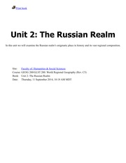 Unit 2-The Russian Realm