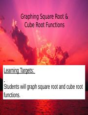 Graphing Square Root & Cube Root Functions.ppt