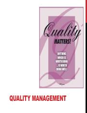 Session #03 Quality Management