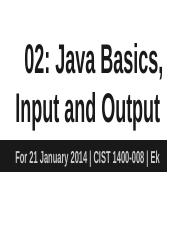 02_ Classes, Files, Input & Output
