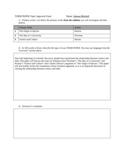 ENGL 3004-Term Paper Topic Approval Form