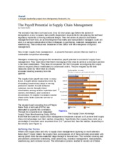 The payoff potential in suply chian management