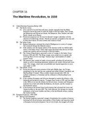 Chapter 16 The Maritime Revolution