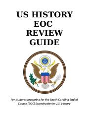 US History EOC Review Guide
