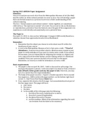 Spring 2015 ARH204 Paper Assignment