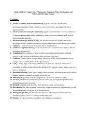 Study Guide for Chapter 31 - Part One.docx
