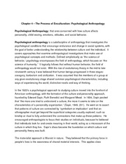 Cultural Anthropology 101 Lecture Notes Chapters 4