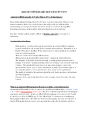 Annotated Bibliography-instruction n samples spring 13
