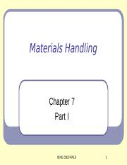 IENG 3300 Chapter 7 Part I FA16