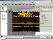 Lecture 17 - Facial Animation Part 1