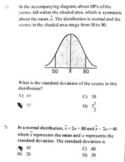Standard Deviation Problems