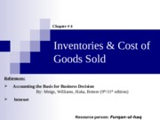04. Inventories & Cost of Goods Sold Complete