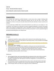 MKT 650 Case Study Mountain Man Beer Co - Group Combined SWOT and MP REVISED.docx