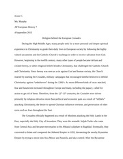dbq 3 the middle ages essay