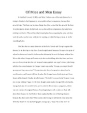 Of Mice and Men Essay Part 1